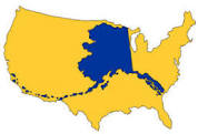 map of Alaska in US