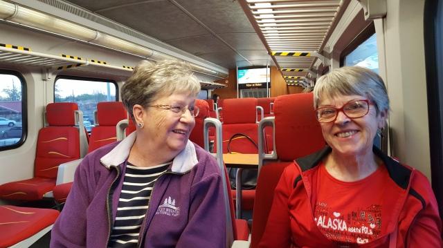 girls on train