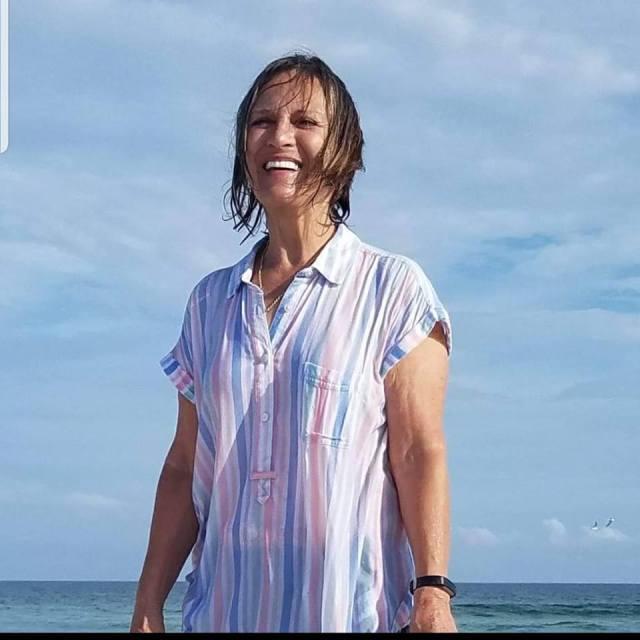 Paula at beach